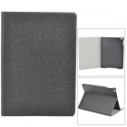 Silk Style Protective PU Leather + Plastic Case for Ipad AIR - Black