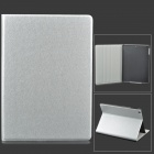 Silk Style Protective PU Leather + Plastic Case for Ipad AIR - Silver