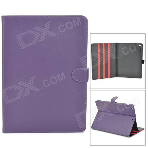 Stylish Protective PU Leather + Plastic Case for Ipad AIR - Purple