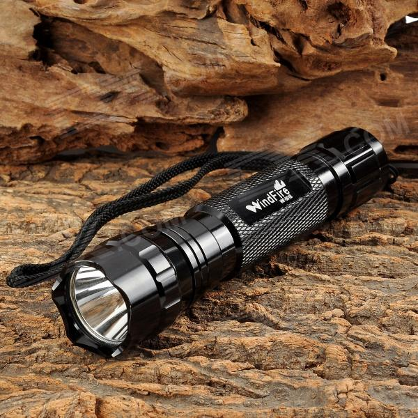 Wind Fire WF-501B LED 550lm 5-Mode Memory White Flashlight - Black (1 x 18650)