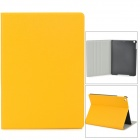 Oracle Style Protective PU Leather + Plastic Case for iPad Air - Yellow