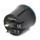 AC Charging Adapter Charger w/ Dual USB for Cell Phone - Black (2-Flat-Pin Plug)