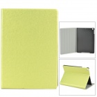 Silk Style Protective PU Leather + Plastic Case for Ipad AIR - Grass Green