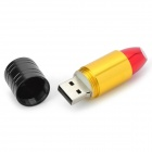 Lip Style Aleación de aluminio USB 2.0 Flash Drive - Negro + Amarillo + Multicolor (4 GB)