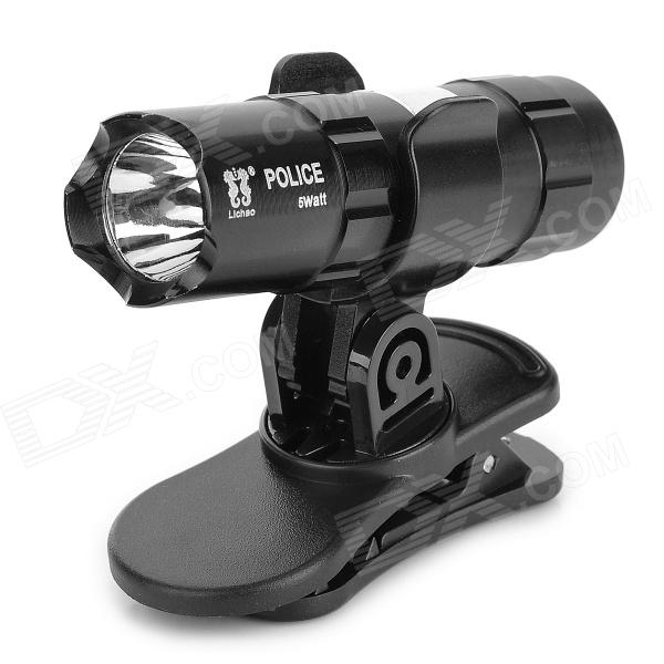 0457 Outdoor Detachable Clip-On LED 38.1lm White Light w/ Magnet - Black (4 x LR44)
