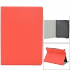 Oracle Style Protective PU Leather + Plastic Case for iPad Air - Red