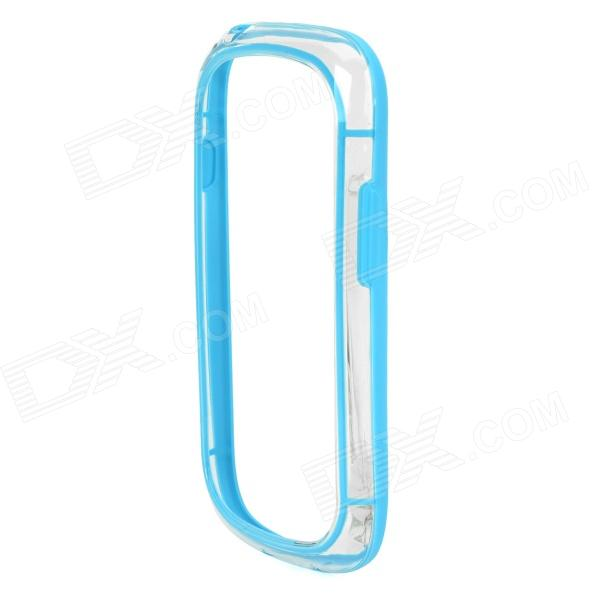 Protective PC Bumper Frame Case for Samsung Galaxy S3 Mini i8190 - Blue + Transparent fashionable protective bumper frame case with bowknot for samsung galaxy s3 i9300 black