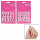 XF XF802 804 3D French Manicure Nail Art Stickers - Multicolored