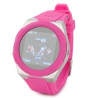 "KICCY A6 Water Resistant Bluetooth Smart Watch Phone w/ 1.54"", FM for Android and iOS - Deep Pink"