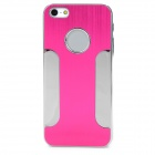 DETI-002 Protective PC Alloy Back Case for Iphone 5 / 5s - Deep Pink