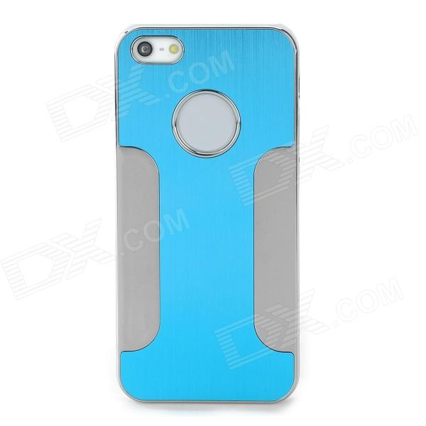 DETI-002 Protective PC + Alloy Back Case for Iphone 5 / Iphone 5S - Deep Blue