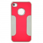 DETI-001 Protective PC + Alloy Back Case for Iphone 4 / 4s - Red