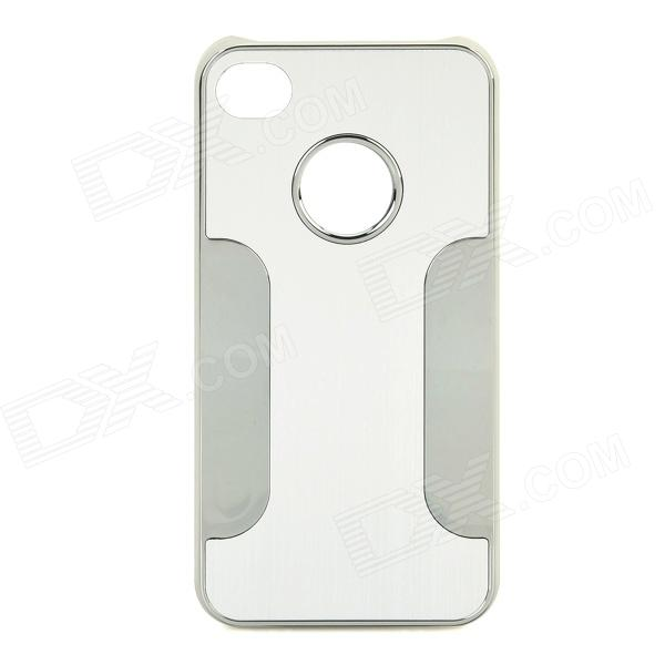 DETI-001 Protective PC + Alloy Back Case for Iphone 4 / 4s - Silver