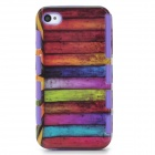 2-in-1-Graffiti-Muster Schutz PC zurück Fall für iPhone 4 / 4S - Purple + Multicolor