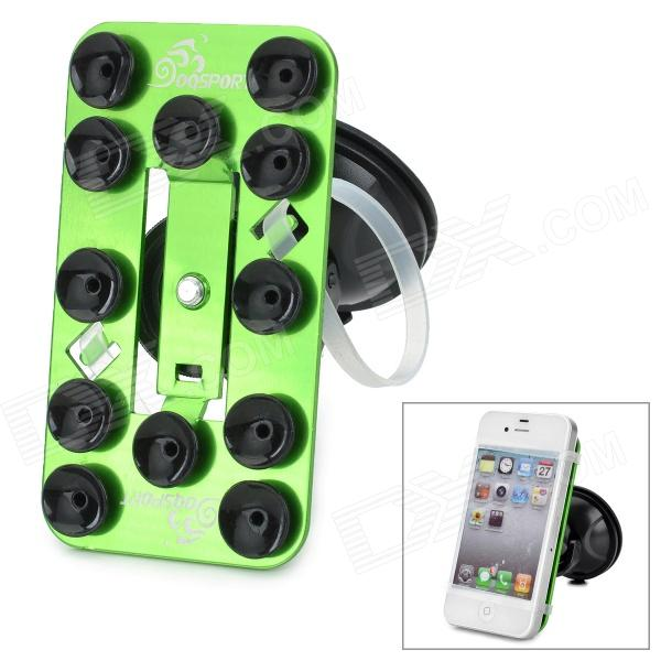 OQsport OQ-12XZ 360 Degree Rotary Car Holder w/ Suction Cup for Iphone 4 / 5 + More - Grass Green h08 360 rotation 4 port suction cup holder w silicone back clip for iphone 4 4s 5 ipad mini ipod