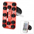 OQsport OQ-12XZ 360 Degree Rotary Car Holder w/ Suction Cup for iPhone 4 / 5 + More - Red + Black