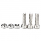 Universal DIY Stainless Steel Screw for Motorcycle - Silver (3 PCS)