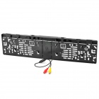 CMOS Rearview Camera License Frame Holder w/ 4-LED Night Vision for European Cars - Black