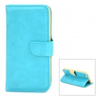 DYTI-003 Protective PU Leather + PC Case for Iphone 5 / 5s - Turquoise
