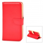 DYTI-003 Protective PU Leather + PC Case for iPhone 5 / 5s - Red