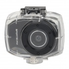 """DSC-9751 2.4"""" Touch Panel Max 5.0MP Waterproof Sport Camcorder w/ Remote Control - Black"""