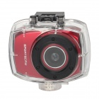 """DSC-9751 2.4"""" Touch Panel Max 5.0 MP Waterproof Sport Camcorder w/ Remote Control - Red"""