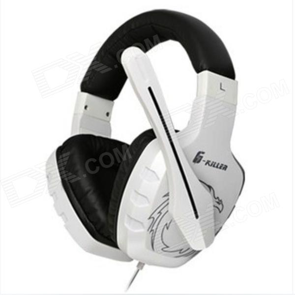 Somic G7 Headband Super Bass Gaming Headphone w/ Microphone - White gaming headset led light glow noise cancealing pc gamer super bass headband headphones with microphone for computer pc