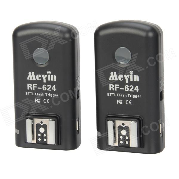 Meyin RF-624 Wireless Flash Trigger for Canon Camera - Black (Pair)