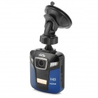 "RICH R535 1080P HD 2.4"" TFT CMOS 5.0MP Wide Angle Car DVR w/ Motion Detection - Black + Blue"