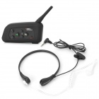 VNETPHONE V4G Bluetooth V3.0 Motorcycle Helmet Interphone w/ 3.5mm / FM - Black
