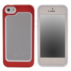 Zomgo Stylish Protective Aluminum Alloy + Silicone Bumper Frame for Iphone 5 / 5s - Red + White