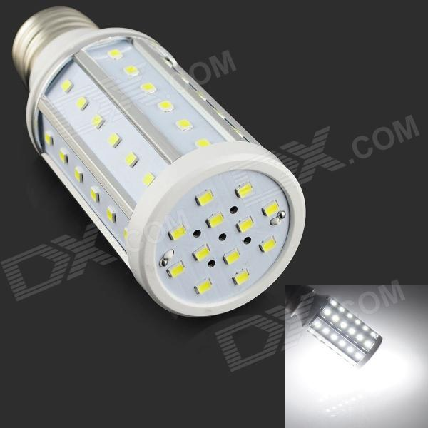 HZLED E27 10W 900lm 6500K 60 x SMD 2835 LED White Light Lamp - White + Silver (AC 85~265V) lexing lx r7s 2 5w 410lm 7000k 12 5730 smd white light project lamp beige silver ac 85 265v