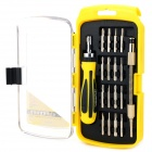 R'DEER No.9116 Convenient Screwdriver Set Repairing Tool for Laptop + More - Black + Yellow