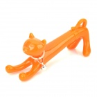 Creative Cat Style Blue Ink Ball Pen - Orange