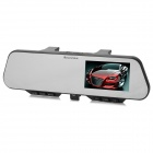 "1080P 4.3"" TFT CMOS 5.0MP Wide Angle Rearview Mirror Car DVR w/ Plugging Bluetooth v3.0 + EDR Device"