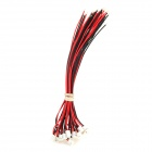 ph-2.0-2p  DIY Single Head Terminal Connection Cables Set - Red + Black + White (20 PCS)