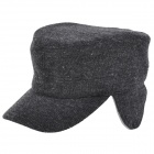 Outdoor Sports Earmuffs Warm Wool Cap for Men - Grey (Free Size)