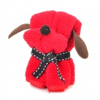 MJ-01 Mini Dog Style Cotton Towel - Red