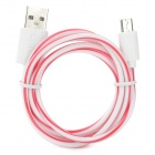 Micro USB Male to USB 2.0 Male Charging / Data Cable for Samsung / HTC - White + Red (100cm)