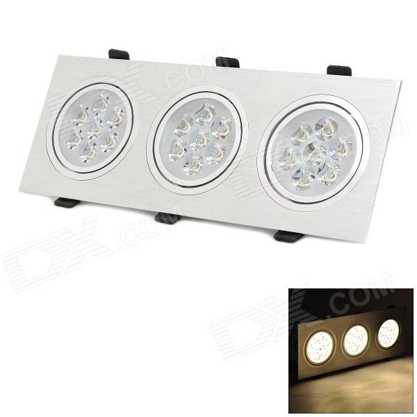 HUGEWIN HSD337 21W 1400lm 3000K 21-LED Warm White Grille / Ceiling Lamp - Silver (AC 85~265)