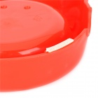 Plastic Dual Bowl for Pet Cat Dog - Red