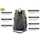 NUCKILY PM06 Outdoor Sports Nylon Cycling Backpack - Green + Grey (35L)