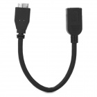 JJBY Micro USB 3.0 9pin OTG Cable for Samsung Note 3 N9000 - Black (22cm)
