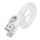 Micro USB 3.0 9pin Male to USB 3.0 Male Data Cable for Samsung Galaxy Note 3 Series - White (60cm)