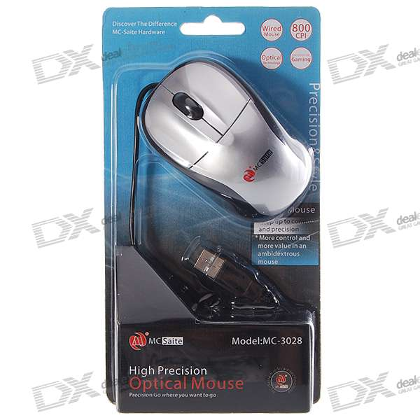 MCSaite USB 2.0 Optical Mouse (142CM-Cable)