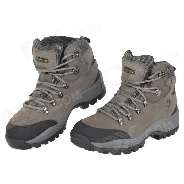 Hasky 8002 Sport Mountain Leather High Ankle Shoes - Dark Grey (Size 43)