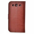 A-556 Protective PU Leather Case w/ Card Holder Slots for Samsung Galaxy S3 i9300 - Brown