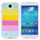 Colorful Protective TPU Back Case for Samsung Galaxy S4 - White + Mulitcolor