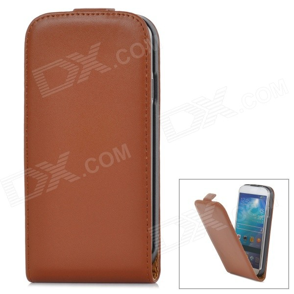 Protective Genuine Leather Case for Samsung Galaxy S4 i9500 - Brown