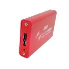 CY 50mm mini PCI-E mSATA Solid State Disk SSD to USB 3.0 Hard Disk Case Enclosure w/ Cable - Red